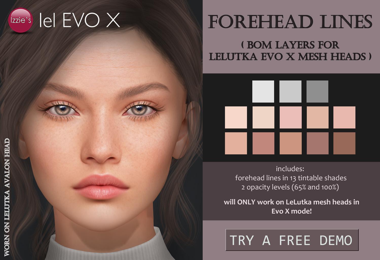 forehead lines evo x