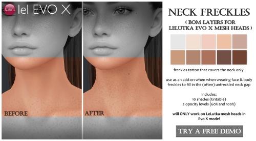 evox neck freckles