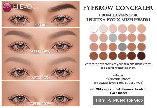 eyebrow concealer evox