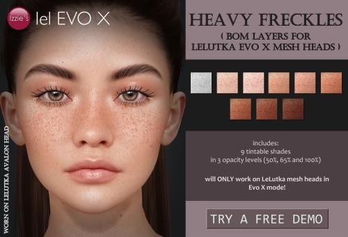 heavy freckles evox